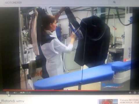 Mesa de planchar industrial 388 rotondi italia youtube for Mesa para planchar