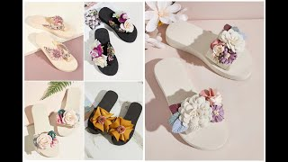 Floral Flat Shoes=Floral Flat …