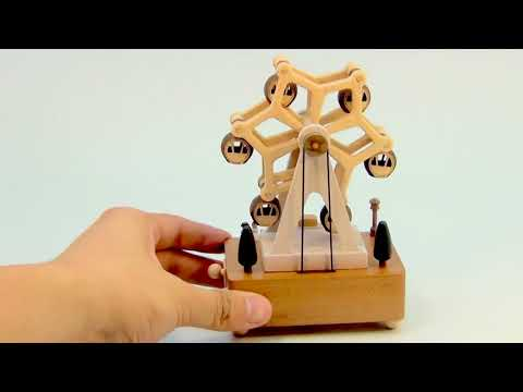 Christmas Gift Carousel Musical Wooden Boxes Ferris Wheel...www.unwrappedstore.com