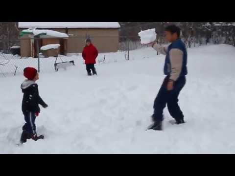 Playing Snow With My Kids 4 / 4 / 2014.