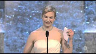 Renee Zellweger winning Best Supporting Actress