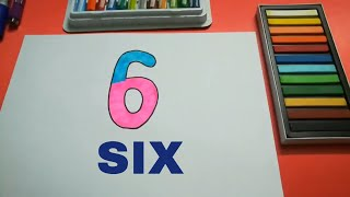 HOW TO DRAW SIX FOR KIDS STEP BY STEP l DRAWING SIX EASY