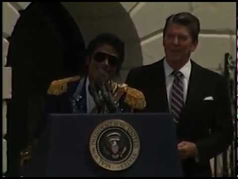 President Reagan and Michael Jackson Drunk Driving Campaign Ceremony 1984