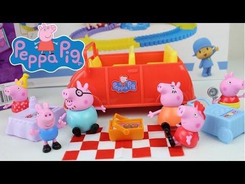 Juguetes de Peppa Pig Adventure Car with Picnick Basket  Peppa Pig El Carro de Aventuras Videos De Viajes