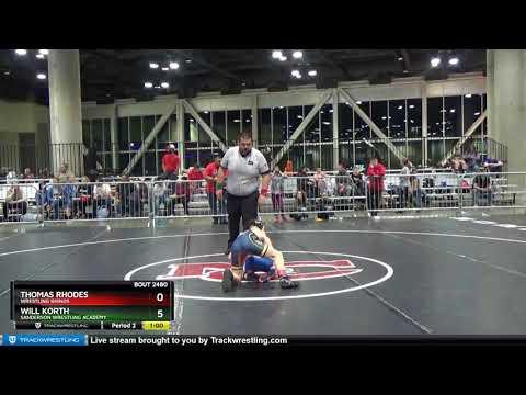 Middle School 87 Thomas Rhodes Wrestling Rhinos Vs Will Korth Sanderson Wrestling Academy