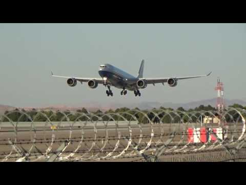 *RARE* Las Vegas Sands Corp. A340-541(VP-BMS) arrives at Las Vegas