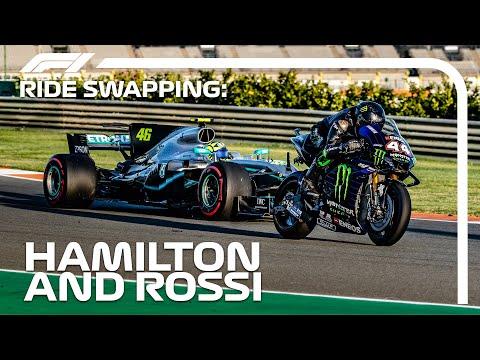 Lewis Hamilton and Valentino Rossi Swap Rides