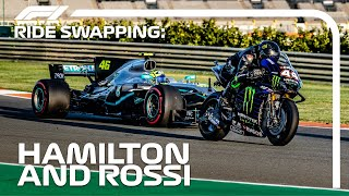 Download Mp3 Lewis Hamilton And Valentino Rossi Swap Rides!