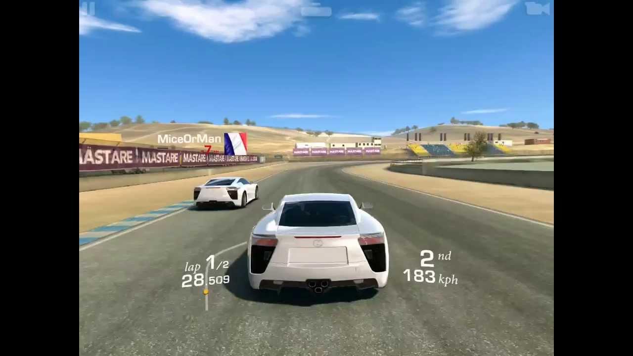 Mazda Raceway Laguna Seca >> Real Racing 3 Mazda Raceway Laguna Seca Lexus Lfa Head To Head