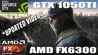 (1080p) Watch Dogs 2 Benchmark Benchmark - GTX 1050 TI - AMD FX 6300 - HIGH/MED/LOW