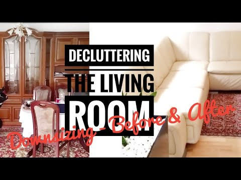 Decluttering The Living Room | How To Downsize Your Home   Before And After  [Home Tour Update] Part 62
