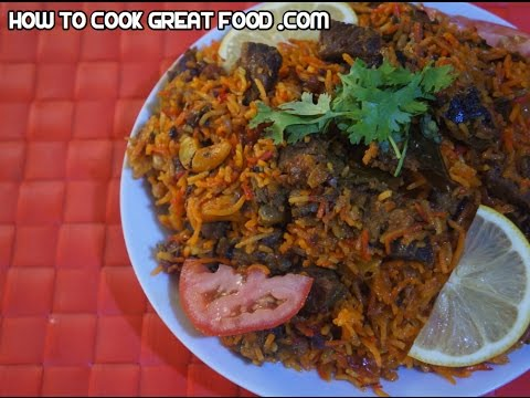 Beef Biryani Recipe - Indian Rice Pressure cooker curry masala