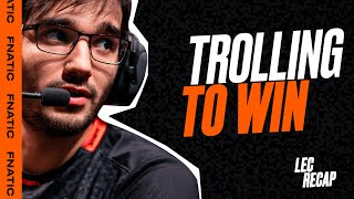 TROLLING TO WIN! | LEC 2020 Spring Highlights - FNC vs OG
