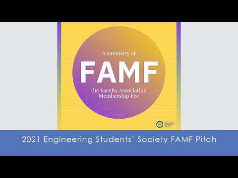 2021 Engineering Students' Society FAMF Pitch
