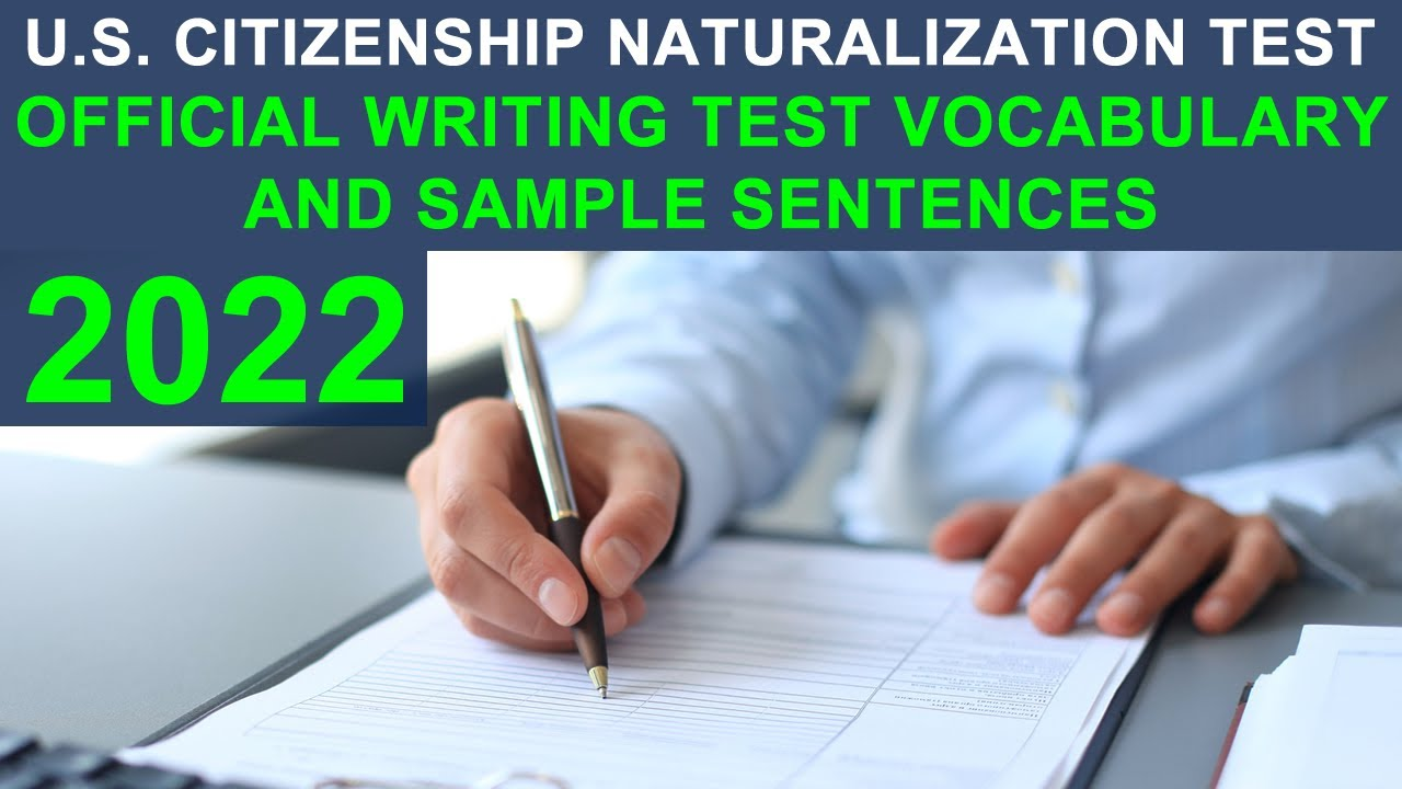 U.S. CITIZENSHIP TEST 2017 - OFFICIAL WRITING TEST VOCABULARY AND ...