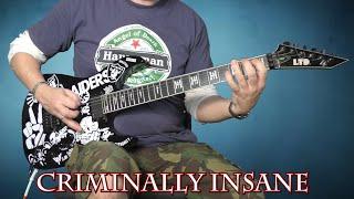 Slayer - Criminally Insane - Guitar Cover With Solo