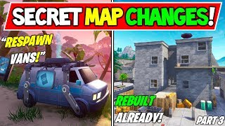 "*NEW* FORTNITE SECRET MAP CHANGES v8.00! - ""RESPAWN VANS"" + ""TILTED BUILDING"" (Season 8 Storyline)"