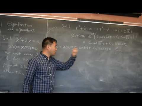 Find Eignefunctions and Eigenvalues of an Endpoint value problem.