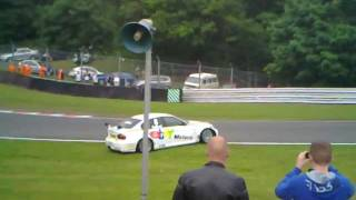 Jason Plato Rob Collard shunt BTCC Oulton Park June 2011