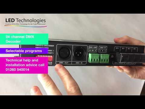 LedTech DMX Pro Decoder 24 Channel 3 Amp | 100 635 - YouTube