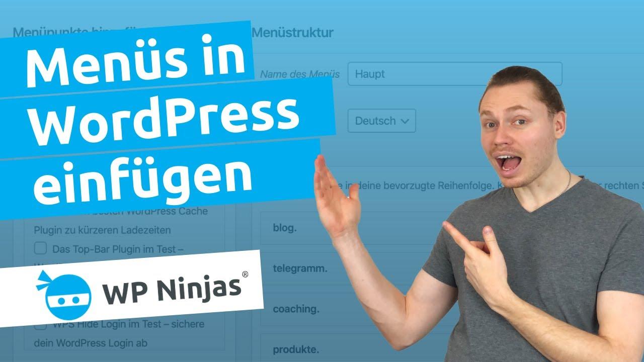 Ein WordPress Menü erstellen - Dropdown Menüs bauen ...