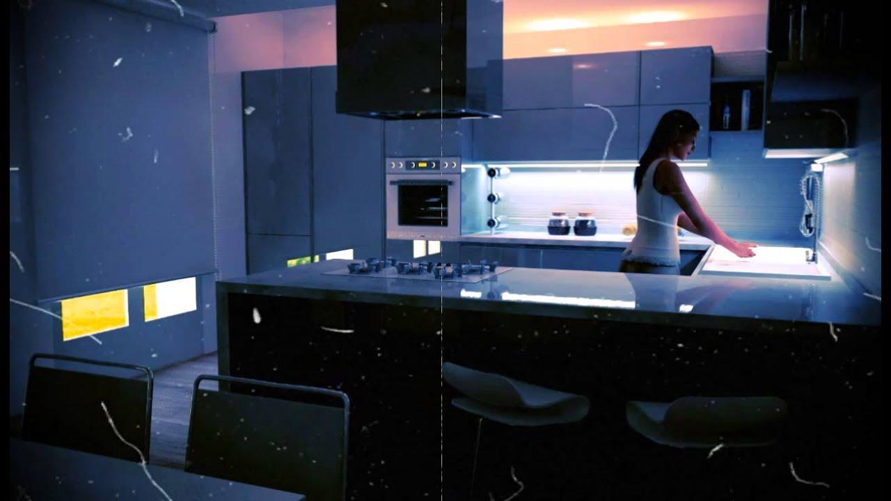 Cucina Moderna Laccata Lucida Grigio Fine - YouTube