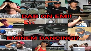 HILARIOUS EMINEM DANCING Reactors React to Eminem In Lucky You Official Music Video COMPILATION