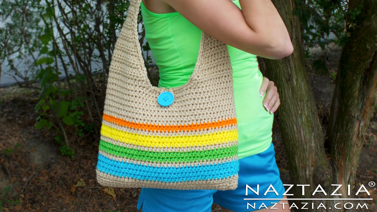 medium resolution of diy learn how to make crochet easy beginner tote bag handbag purse summer pattern youtube