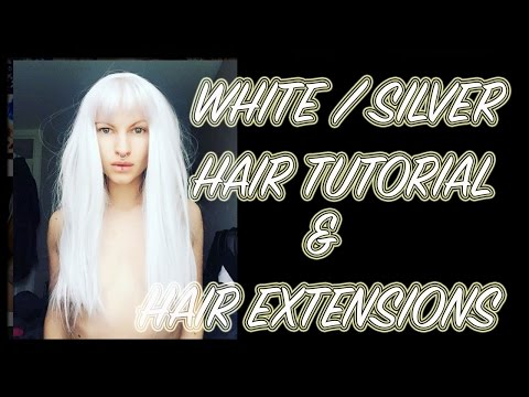 HOW TO: White / Platinum/ silver hair Bleach london toner and Foxy Locks extensions