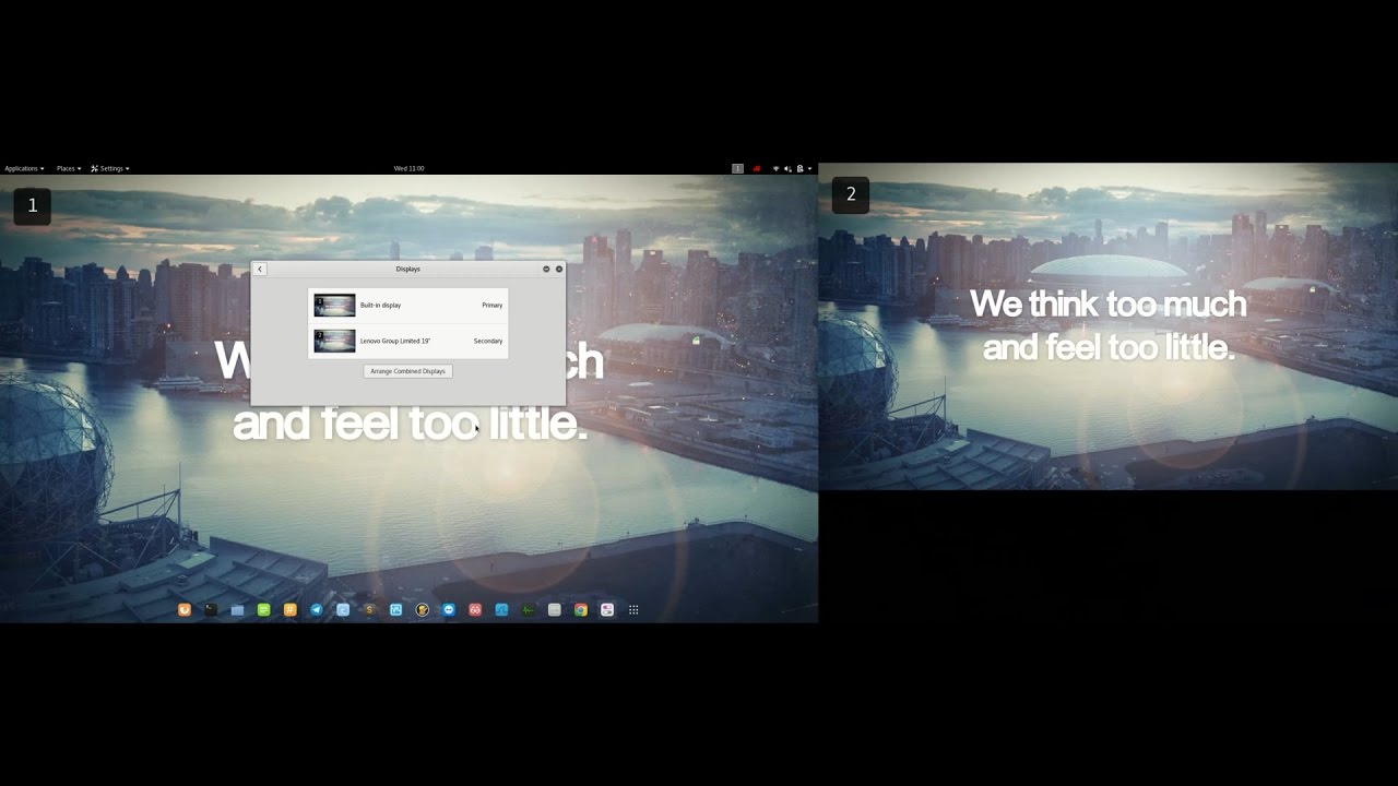 Dual monitor linux setup - setting up, fixing and recording with different  resolutions