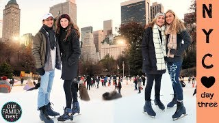 ROMANTIC ICE SKATING DATE  & BLACK FRIDAY SHOPPING IN NYC