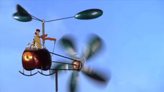 Chicken & Helicopter Recycled Metal Whirligig Sku#52907 - Plow & Hearth