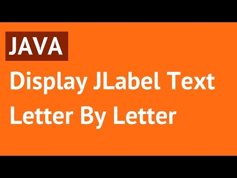 Java - Display Label Text Letter By Letter Using Timer In Java [ with source code ]