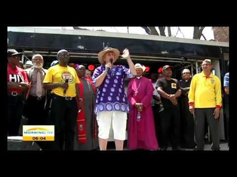 Jeff Radebe unfazed by hostile reception at Anti-corruption march