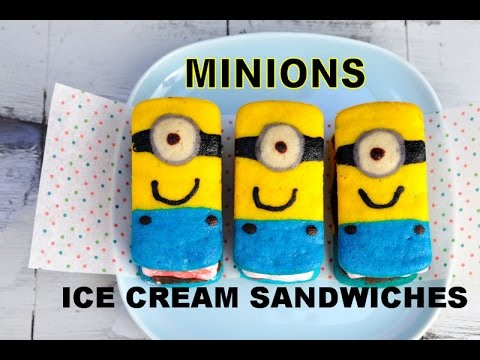 MINIONS ICE CREAM SANDWICHES, WHOOPIE PIES, HANIELA