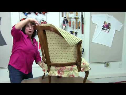 How To Upholster A Barrel Back Chair Part 2
