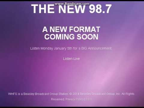 WHFS-FM TOTH ID The New 98.7 2014/12/10 9AM