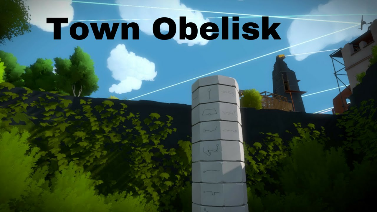 The Witness - ALL HIDDEN ENVIRONMENT PUZZLES (Town Obelisk) - YouTube