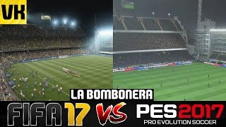 FIFA 17 VS PES 2017 STADIUM COMPARISON: La Bombonera (Boca Juniors) #6