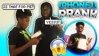 SURPRISING MY LITTLE BROTHER WITH AN iPHONE 11!!🤭 (MUST WATCH)