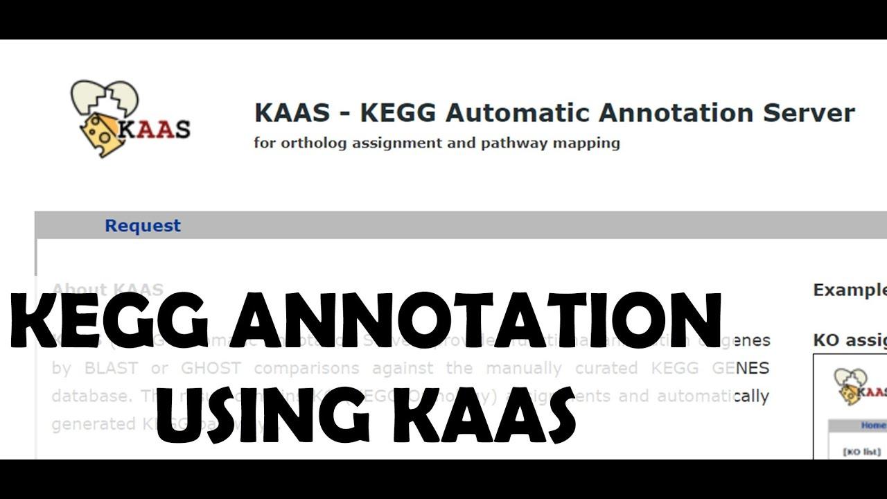 KEGG Tutorial: KAAS Job Request