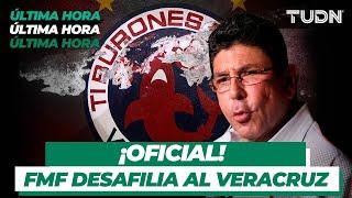 Oficial: FMF desafilia a Veracruz; Kuri ya fue informado
