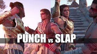 Kassandra Punches Alexios VS Alexios Slaps Kassandra ( Memories Awoken ) Assassin's Creed Odyssey