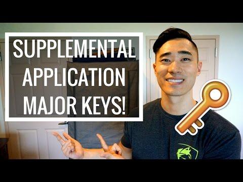 Supplemental App Major Keys! MUST WATCH for Applicants!