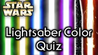 Find out YOUR lightsaber COLOR! - Star Wars Quiz