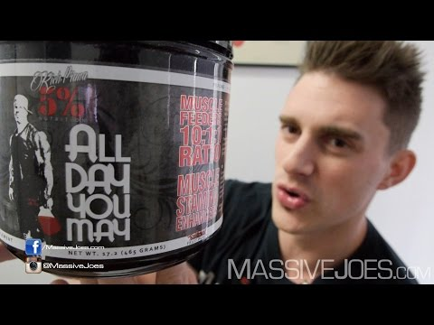 Rich Piana 5% Nutrition All Day You May Recovery Supplement - MassiveJoes.com RAW REVIEW Australia