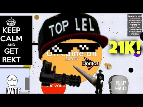 AGAR.IO | Funny Gameplay #1 | Highscore 21k! (21,785)
