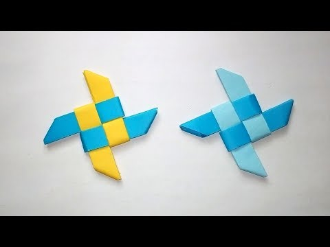 How To Make A Paper Ninja Star EASY - Simple Origami Ninja Star