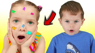 Story about big pimple pretend play for kids by Nicole