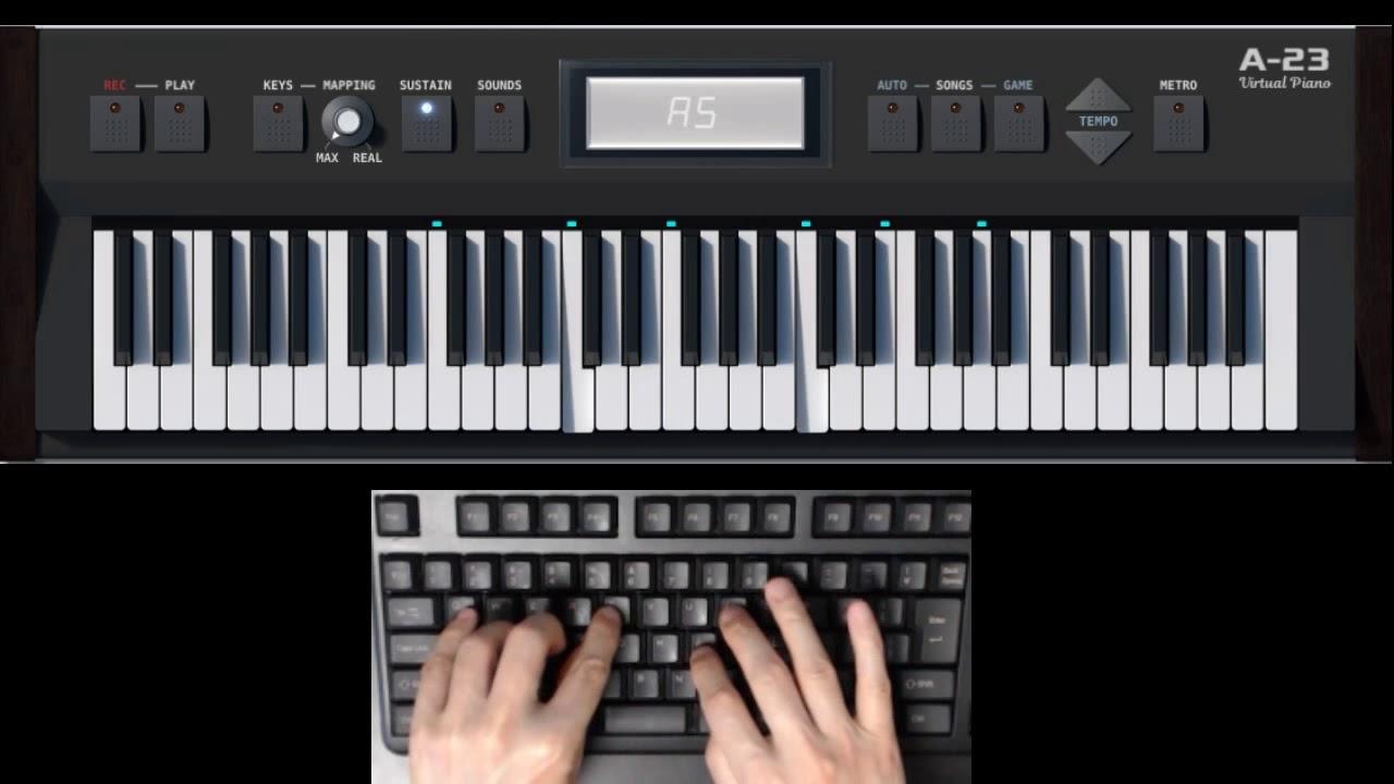 End Theme 5 Centimeters Per Second Tenmon Virtual Piano Cover